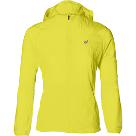 asics Packable Chaqueta Running Mujer, lemon spark